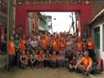 Наша группа возле монастыря Намо Будда