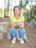 Анжела с черепахой